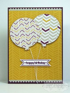 Stampin' Up! Moonlight DSP & Balloon thinlets