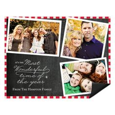 Photo Christmas Cards  -- Flowing Holiday Cheer Magnet | Pear Tree Greetings