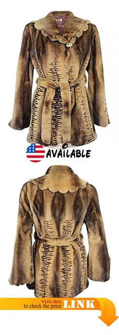3148738936be7 B00NBN86Z4 : New Women's Semi Sheared & Grooved Mink Fur Jacket 10  Medium Butterscotch.