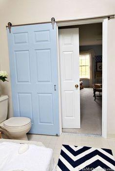 Fabriquer une porte coulissante pour la salle de bain