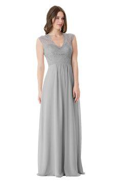 Halter Neck Lace A-Line Bella Chiffon Dress | Bari Jay Bridesmaids ...