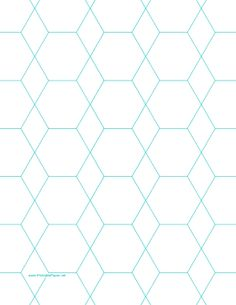 This letter-sized octagon graph paper is spaced with octagons and diamonds an inch apart. Free to download and print