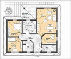 winkelbungalow mit hems und satteldach d nisches bungalow haus grundriss grundriss. Black Bedroom Furniture Sets. Home Design Ideas