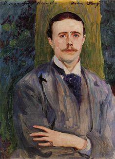 Portrait of Jacques-Emile Blanche, c.1886 by John Singer Sargent (American 1856-1925)