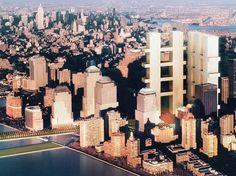 Eisenman Architects, Gwathmey Siegel and Associates, Steven Holl, Richard Meier   World Trade Center Competition   2002