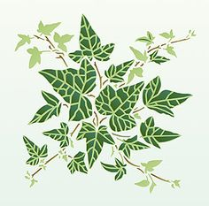 The unique layering creates very realistic leaf veins, giving this ivy stencil a life-like appearance like no other ivy stencils. Description from hennydonovanmotif.co.uk. I searched for this on bing.com/images