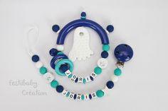 Offre Duo personnalisée en perles de bois - modèle Joris : Puériculture par festibaby-creation