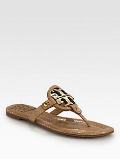 72866703e5879a Tory Burch - Miller Snake-Print Leather Thong Sandals
