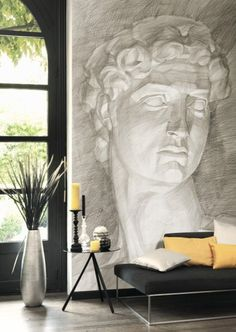 Wall, wall murals, mural art, interior architecture, home interior de Mural Art, Wall Murals, Graphisches Design, Large Wall Art, Coastal Decor, Art Deco Fashion, Art Forms, Decoration, Art Pieces