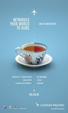 """Cathay Pacific """"Unexpectedly Familiar"""" Boston Launch Campaign – Graphis - My Design Ideas 2019 Game Design, Food Poster Design, Creative Poster Design, Creative Posters, Graphic Design Posters, Graphic Design Inspiration, Layout Design, Design Web, Signage Design"""