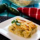 Cheesy Green Chile Quinoa Casserole
