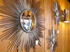 Mid century mod sunburst mirror