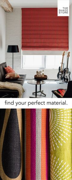 Find Your Perfect Material - Roman Shade - Nolan