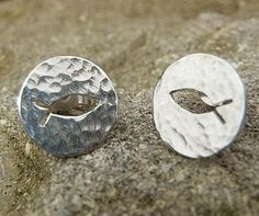 Silver Christian Fish Earrings with a hammered finish by PreciousToMeDesigns on Etsy