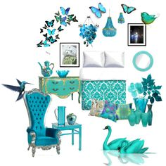 """""""Dreaming in Turquoise and Aqua"""" by dianeclancy on Polyvore"""