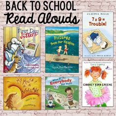 Beginning of the Year Read Alouds