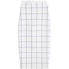 VICTORIA BECKHAM Wool Blend Pencil Skirt ($1,425) ❤ liked on Polyvore featuring skirts, white knee length pencil skirt, pencil skirts, victoria beckham skirt, victoria beckham and white pencil skirt
