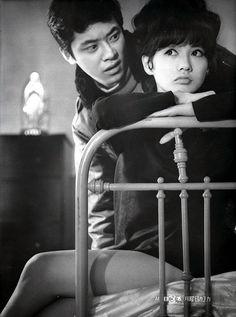 加賀まりこ Mariko Kaga 1943- Japanese Actress with Akira Nakao
