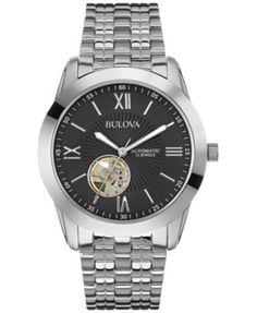 Bulova Men's Automatic Stainless Steel Bracelet Watch 42mm 96A158 - A Macy's Exclusive