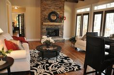 Love this living area!  Loads of light. Great choice of carpet.