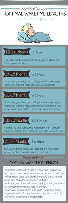 How long a toddler should be awake. 12-14 month old waketimes. Time awake before nap. Or bedtime.
