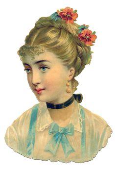 Victorian Lady Scrap ~ http://thegraphicsfairy.com/wp-content/uploads/blogger/-EsCtIPBojio/UBCJuAzAKKI/AAAAAAAAS7g/3lsHKOjDWKw/s1600/ladyprofileGraphicsFairy2.jpg