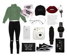 """Sin título #30"" by bertastoneez on Polyvore featuring moda, Boohoo, Yves Saint Laurent, Maison Margiela, Vans, CASSETTE, Fuji, Lime Crime y ROSEFIELD"