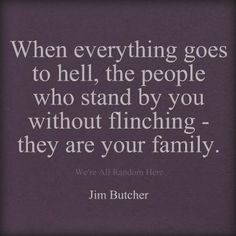 It's sad to say, but the family I had when I was growing up is NOT the family I have now.