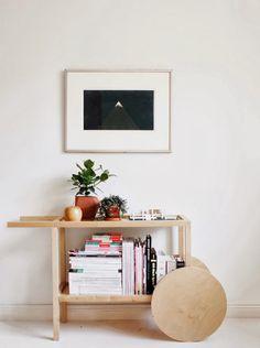 Great DIY idea. wooden cart as bookcase #decor #styling #diy