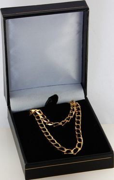 14kt Yellow Gold Square Curb Chain 3.6 mm Width 8.0 Inch Long (4.1 Grams) by RG&D
