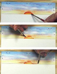 Mara Mattia Art: Lesson #24 Painting a Sunset in Watercolor