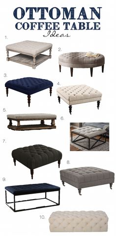 Ottoman Table, Upholstered Ottoman, Living Spaces, Living Room, Diy Coffee Table, Great Coffee, Lifestyle Blog, Family Room, Kitchen Cabinets