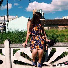 Flores no jardim da @loja_amei 🌼☀️ #lojaamei #muitoamor #vestido #moda #flores #sol #lindo #verão