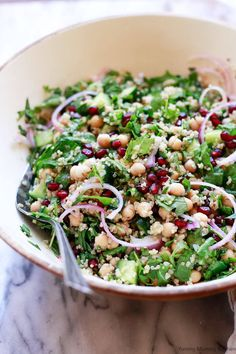 Chickpea And Quinoa Salad Recipes. Best Spinach Salad With Quinoa Chicken Chickpeas And . Quinoa Salad Recipes, Healthy Salad Recipes, Vegetarian Recipes, Side Salad Recipes, Vegetarian Lunch, Avocado Recipes, Garbanzo Salad, Quinoa Chickpea Salad, Spinach Quinoa Salad