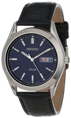 9eefabefecaae Seiko Men`s Solar Strap Blue Dial Watch