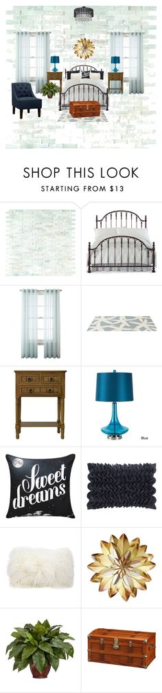 """""""Bedroom"""" by amyjackson81 ❤ liked on Polyvore featuring interior, interiors, interior design, home, home decor, interior decorating, Hillsdale Furniture, Royal Velvet, Somerset Bay and Surya"""