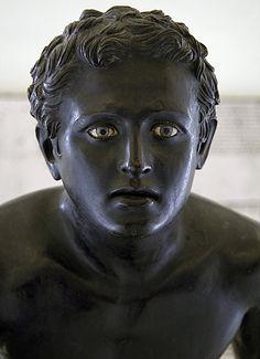 Bronze statue of an athlete. Naples
