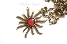 Ketten mittellang - ✼ Sonnenfeuer ✼ Kette - ein Designerstück von LiAnn-Versand bei DaWanda