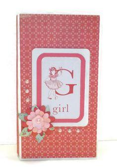 Darling Girl waterfall folio premade mini by CreationsbySweet