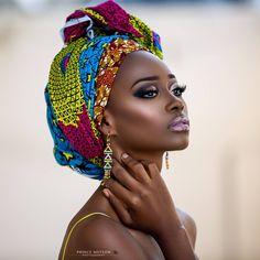"Editorial: ""African Queens"" Adesola Adeyemi and Chinelo Ikegbune for Prince Meyson Photography - Head Wraps Black Women Art, Beautiful Black Women, Black Girls, Simply Beautiful, African Beauty, African Women, African Fashion, African Style, African Makeup"