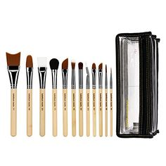 Bdellium Tools Professional Makeup Brush Special Effects SFX Series - 12 pc. Brush Set with Double Pouch (2nd Collection)