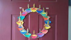 diwali decoration, diwali crafts diy, diwali wreath New Crafts, Creative Crafts, Home Crafts, Crafts For Kids, Paper Crafts, Holiday In Singapore, Singapore Holidays, Diwali Craft For Children, Diwali Decorations At Home