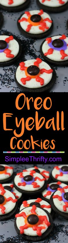 How to make Oreo Eyeball Cookies! These are so simple to make and you can get the kids in on the fun too. What a fun DIY party treat. #FCPinPartners