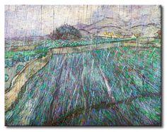 MU_VG2093 t_Van Gogh _ Rain / Cuadro Paisaje, lluvia