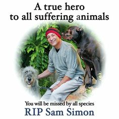 Thank you Sam Simon for all of your caring contributions to the voiceless.  May the Rainbow Bridge rise to meet you and show you the love you showed in your life.  I can only but dream of doing all the good things you did in your life.  Thank you, God Bless and may you always know peace.  So many animal souls will love seeing you as well as other animal lovers.    RESPECT!!!!