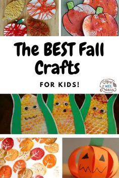 These cute fall crafts are super easy, and will have your toddler or preschooler entertained for hours! Crafting is such a great way to develop children's fine motor skills and hand eye coordination. Preschool Arts And Crafts, Fall Crafts For Kids, Arts And Crafts Projects, Kids Learning Activities, Autumn Activities, Activities For Kids, Fine Motor Skills, Super Easy, Easy Crafts