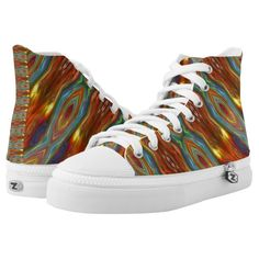Cosmic Peacock Fantasia Abstract Art Printed Shoes