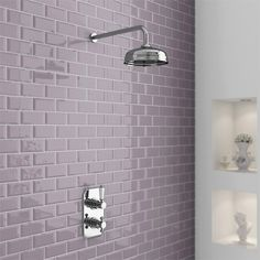 """Premier Edwardian Twin Concealed Thermostatic Shower Valve with 8"""" Apron Fixed Head. Reduced from £350 to £190"""