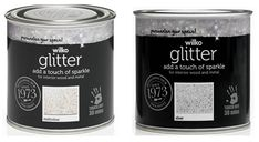 Shop for Wilko Silver Glitter Interior Wood and Metal Paint at wilko - where we offer a range of home and leisure goods at great prices. Glitter Paint Silver, Glitter Paint For Walls, Glitter Bedroom, Blue Gray Paint, Stationery Craft, Skirting Boards, Beauty Salon Interior, Bathroom Design Luxury, Diy Crystals