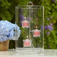 Seed glass lantern charms with unique character and individuality. The metal candle insert acts as a footed base for the lantern Beautiful Candles, Best Candles, Tea Light Candles, Tea Lights, Bougie Candle, Candle Picture, Candles Online, Vintage Candles, Tealight Candle Holders